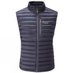 Rab - Microlight Vest - Down vest ➽ Dispatch within - Buy online now! ✓ 30 Day Return Policy ✓ Expert advice ✓ Free delivery to EU countries Mens Insulated Jackets, Mens Outdoor Jackets, Nylons, Mens Down Vest, Warm Down, Snug Fit, Winter Jackets, Casual, Stuff To Buy