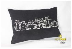 almofadas bordadas : almofadas [gatos] preta]