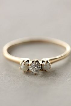 Anthropologie Diamond and Pearl Ring $468