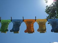 cloth diapers and a clothes line. Hoping I can make a little one this summer for Gio's diapers!!