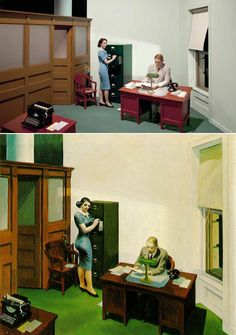 Cool.If It's Hip, It's Here: 13 Edward Hopper Paintings Are Recreated As Sets For Indie Film 'Shirley - Visions of Reality.'