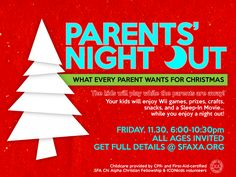 parent's night out | Parents' Night Out in Nacogdoches