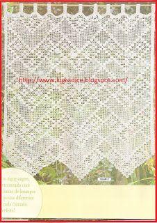 Free Filet Crochet Curtains Diagrams