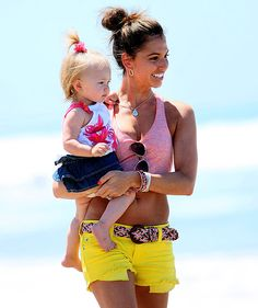 Melissa Rycroft Strickland  The former Bachelor contestant soaked up the sun with daughter Ava, 17 months, who dressed in a chic denim skirt and sleeveless blouse.
