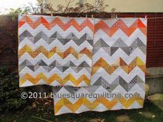 Two smaller version of my Big Zig Zag quilt