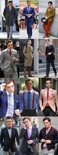 Chuck Bass, Gossip Girl - Style Lookbook