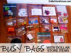 diy bean bag toddler learning activities   Busy Bags With Dollar Store Items