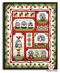 Snow Globe Village quilt pattern/kit by The Quilt company.  BOM at Homespun Hearth.