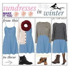 """""""sundresses = winter dresses"""" by w0nderfully-made ❤ liked on Polyvore featuring Calvin Klein, Topshop, Charlotte Russe, Wyatt, Giuseppe Zanotti, Converse, Tim Holtz and Chanel"""