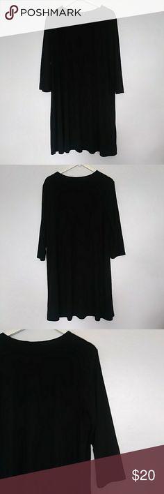 "Tiana b. Long sleeve black mid length dress sz: xl Sz: xl Color: solid black Length: 35"" Sleeve length: 19"" Chest: 21"" Super sleek long sleeve black dress. tiana b. Dresses Midi"