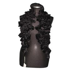 Velvet Woven Scarf-Black