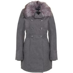 The North Face Boulevard Coat, Graphite Grey ($405) ❤ liked on Polyvore