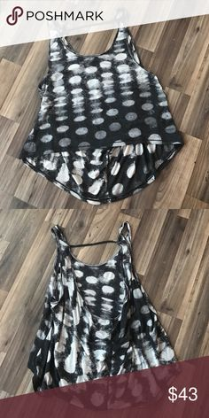 LULULEMON  open back tank 6. *PRICE FIRM* Adorable LUlulemon open back tank. Size 6. Black and white polka dots. These sold fast!! This is great for the summer over a sports bra- love this for after yoga!! EUC lululemon athletica Tops Tank Tops