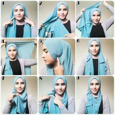 Latest Beautiful Hijab Styles Tutorial Different Face Shapes – Hijab Fashion 2020 Pashmina Hijab Tutorial, Hijab Style Tutorial, Turban Tutorial, Mode Turban, Turban Hijab, Cara Hijab, Stylish Hijab, Modern Hijab, How To Wear Hijab