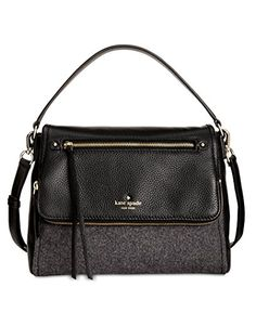 Kate Spade New York Women's Cobble Hill Flannel Small Toddy Charcoal Satchel * Check out the image by visiting the link.