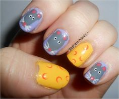 Mouse nails! Too cute