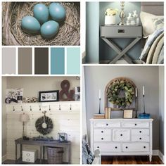 """Our Master """"Pinterest"""" bedroom...... Master Bedroom Makeover, Blue Bedroom, Entryway Tables, Bedroom Ideas, Projects, Furniture, Home Decor, Log Projects, Blue Prints"""