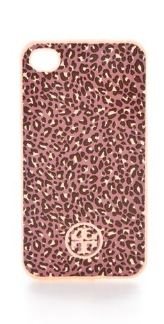 leopard print iphone case / tory burch