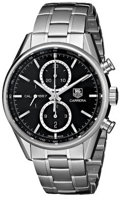 men's watches : TAG Heuer Men's CAR2110.BA0724 Analog Display Swiss Automatic Silver Watch