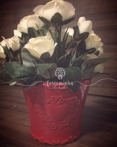 Arranjo doce e romântico para decoração de festas de casamento, noivado, infantil. Também fica lindo em mesas laterais no quarto e na sala