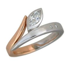 Custom Marquise Diamond Engagement Ring And Wedding Band 29