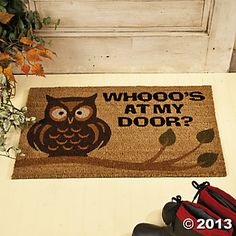 Owl Welcome Mat, Room Decor, Party Decorations, OLD_Party Themes & Events - Oriental Trading
