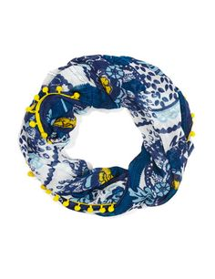 Navy paisley snood with a pop yellow bobble width circumference Paisley, Retro, Style, Swag, Stylus, Neo Traditional, Rustic, Retro Illustration, Mid Century