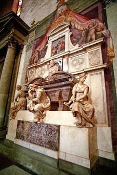 Florence  - Michelangelo's tomb, one of many in Santa Croce.