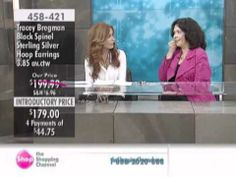 Tracey Bregman Black Spinel Sterling Silver Hoop Earrings at The Shopping Channel 458421 - http://videos.silverjewelry.be/earrings/tracey-bregman-black-spinel-sterling-silver-hoop-earrings-at-the-shopping-channel-458421/
