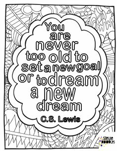5 free coloring pages with C. Lewis quotes plus find over 1000 more free coloring pages from Stevie Doodles Quote Coloring Pages, Coloring Pages Inspirational, Easy Coloring Pages, Printable Adult Coloring Pages, Coloring Book, Inspirational Quotes, Doodle Pages, Color Quotes, Quote Prints