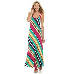 Calvin Klein Bias Stripe Maxi Dress at www.bonton.com