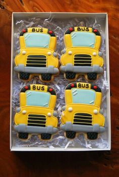Back to School Bash School Bus Cookies (photo only)