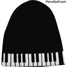 Popular Piano Keys Beanie Hat - Simple but right on the money. This practical piano gift is great for cold weather. The ideal musical clothing for musicians. Gift For Music Lover, Music Gifts, Piano Keys, Piano Music, Scale Music, Piano Gifts, Black Piano, Drummer Gifts, Piano Player