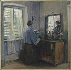 Elisabeth Nourse (American painter, 1860-1938) Les volets clos.