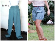 Wardrobe Recycle: Trouser to shorts and my new Migato shoes! Harem Pants, Trousers, Refashion, Diy Fashion, Diys, Capri Pants, Shorts, Style, Trouser Pants