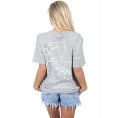 Lauren James Louisiana Line Art Short Sleeve T-shirt