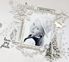 'Christmas Memories' layout by Alicia McNamara Design Team member for Kaisercraft using September 2016 'Frosted' Collection ~ Wendy Schultz ~ Christmas Layouts. Scrapbook Blog, Scrapbooking Layouts, Special Snowflake, Christmas Scrapbook Pages, Christmas 2016, Xmas, Hello Beautiful, Christmas Projects, Hello Everyone