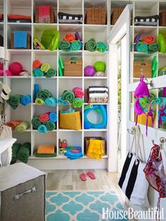 pool house cubbies - Google Search