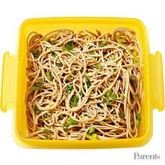 Soba-noodle salad Bell pepper strips and ranch dip Kiwi
