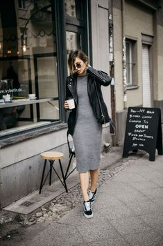 25 Ways to Pull Off Skirts and Sneakers—Without Looking Like an  80s ... 8d1c3a93e