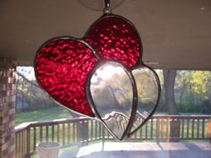 Stained Glass Joined Hearts by PrismStainedGlass on Etsy, $9.95