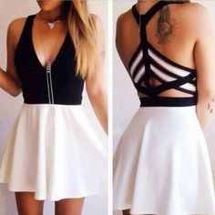Cute prom dress,short homecoming dress,chiffon prom dress,sexy v neck backless…