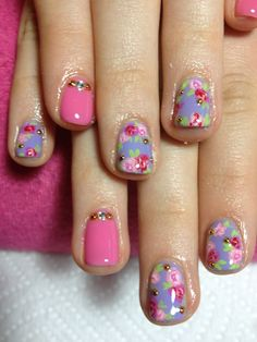 Cute rose nails