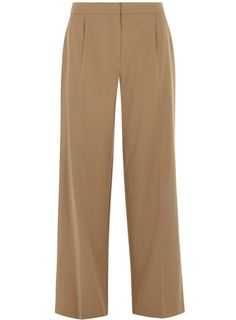 Camel High Waisted Wideleg Trousers