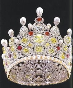 Crown With Rubies, Diamonds and Pearls