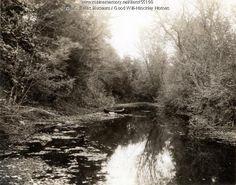 Canoe on Martin Stream, Fairfield, ca. 1950. Item # 55190 on Maine Memory Network