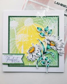 Stencils, Daisy, Stamps, Card Making, Cards, Ideas, Seals, Bellis Perennis, Daisies