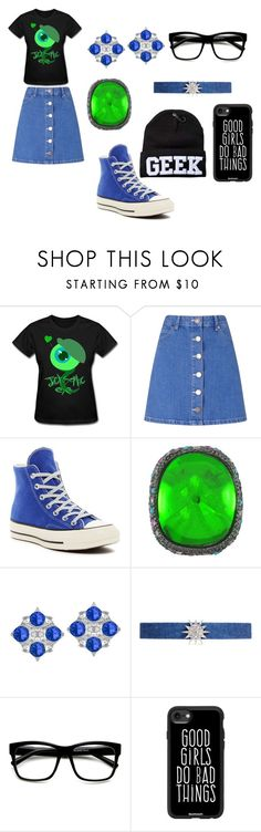 """""""FirestormGames JSE1"""" by antisocial9 ❤ liked on Polyvore featuring Miss Selfridge, Converse, Kenneth Jay Lane and Casetify"""