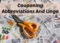 Couponing Abbreviations And Lingo