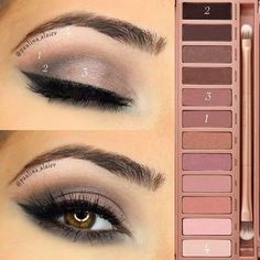 Urban Decay Naked 3 Palette eyeshadow tutorial: Sweep 'nooner' through the crease Darken the crease with 'blackheart' and run that along the lower lash line as well Apply 'liar' on the lid Lastly, highlight the brow bone with 'strange' Smokey Eye Makeup, Skin Makeup, Eyeshadow Makeup, Makeup Brushes, Beauty Makeup, Makeup Eyebrows, Dark Makeup, Eye Brows, Makeup Primer